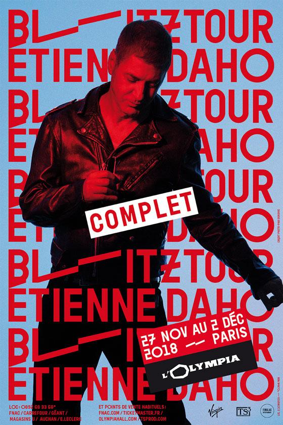 Etienne Daho - Blitztour - Affiche Olympia