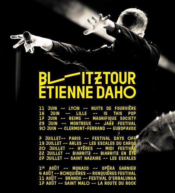 Etienne Daho - Tournée 2018 Blitz Summer Tour