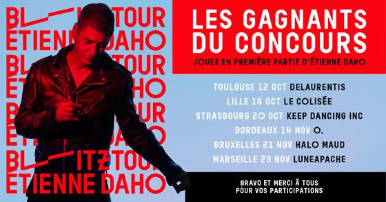 Etienne Daho - Tournée 2018 Blitztour Concours