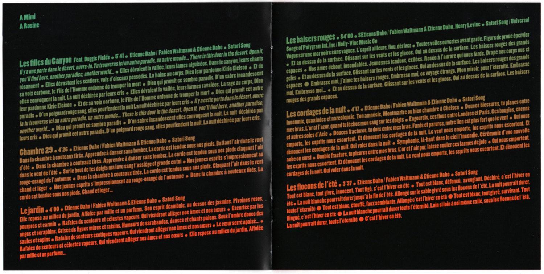 Livret intérieur page 2 et 3