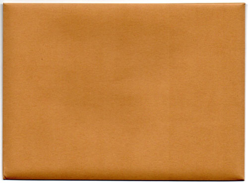 Enveloppe kraft beige recto (notes Etienne)