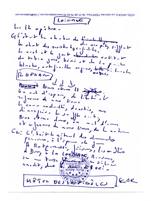 Notes d'Etienne, page 09