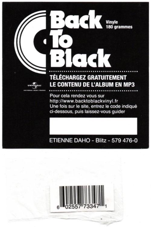 """Carte """"BackTo Back"""" pour téléchargement de l'album en mp3 (80 mm x 80 mm) et Stick code barre"""