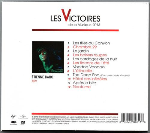"""Edition limitée """"Les Victoires de la Musique 2018"""" Coffret verso"""
