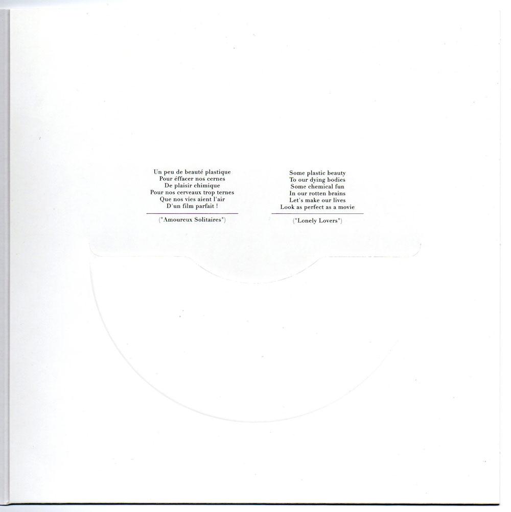 Pochette ouverte, page de droite