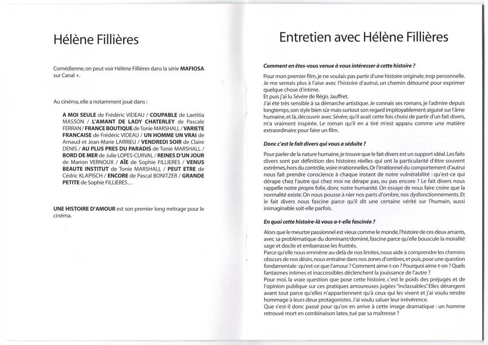 Livret promo avec cd promo inclu, page 6-7