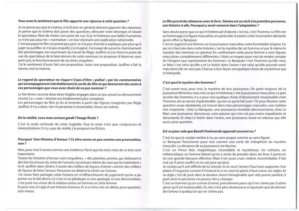 Livret promo avec cd promo inclu, page 8-9