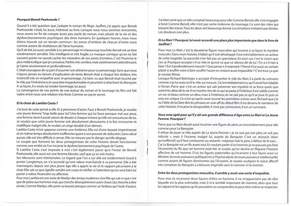 Livret promo avec cd promo inclu, page 10-11