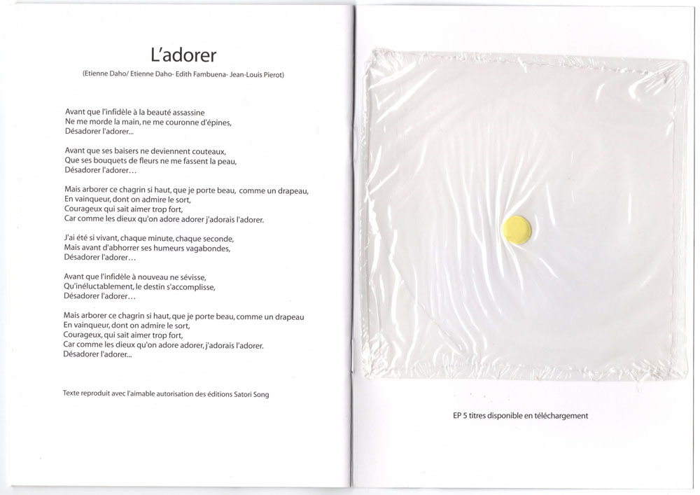 Livret promo avec cd promo inclu, page 18-19