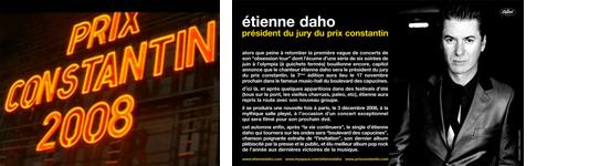 Etienne Daho - Prix Constantin 2008