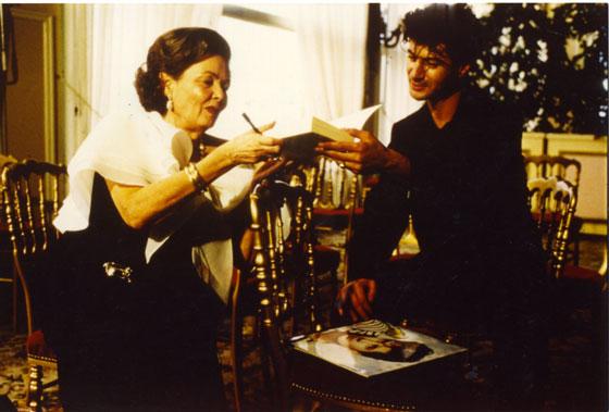 Etienne avec Gene Tierney, Festival romantique de Cabourg 1986 <br /> Collection personnelle
