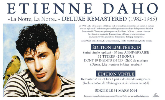 Etienne Daho - La notte la notte - Version Deluxe Remastered
