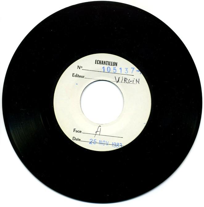 Disque recto (daté du 25 nov. 1983)