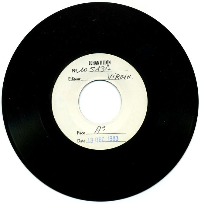 Disque recto (daté du 13 déc. 1983)
