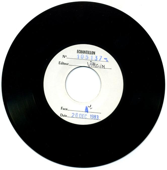 Disque recto (daté du 28 déc. 1983)