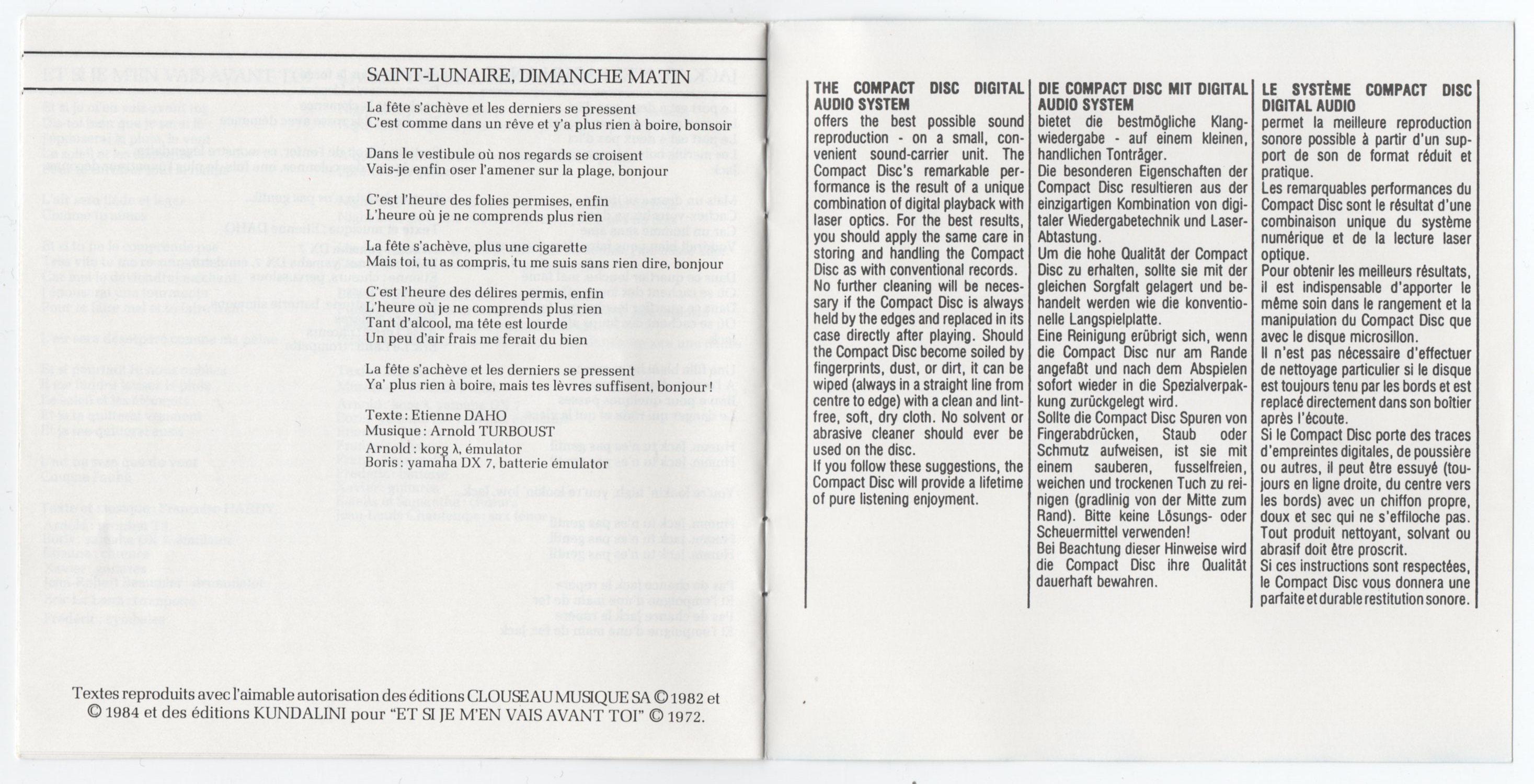 Livret intérieur, page 10-11