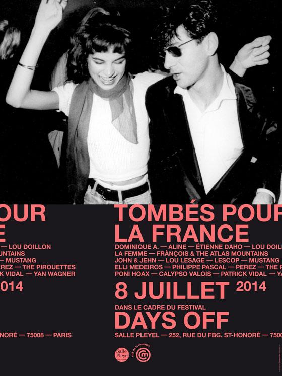 Etienne Daho Affiche Days off 2014 Tombé pour la France