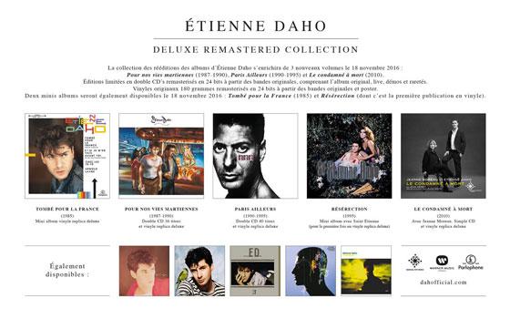 Etienne Daho - Reedition Album Deluxe - novembre 2016