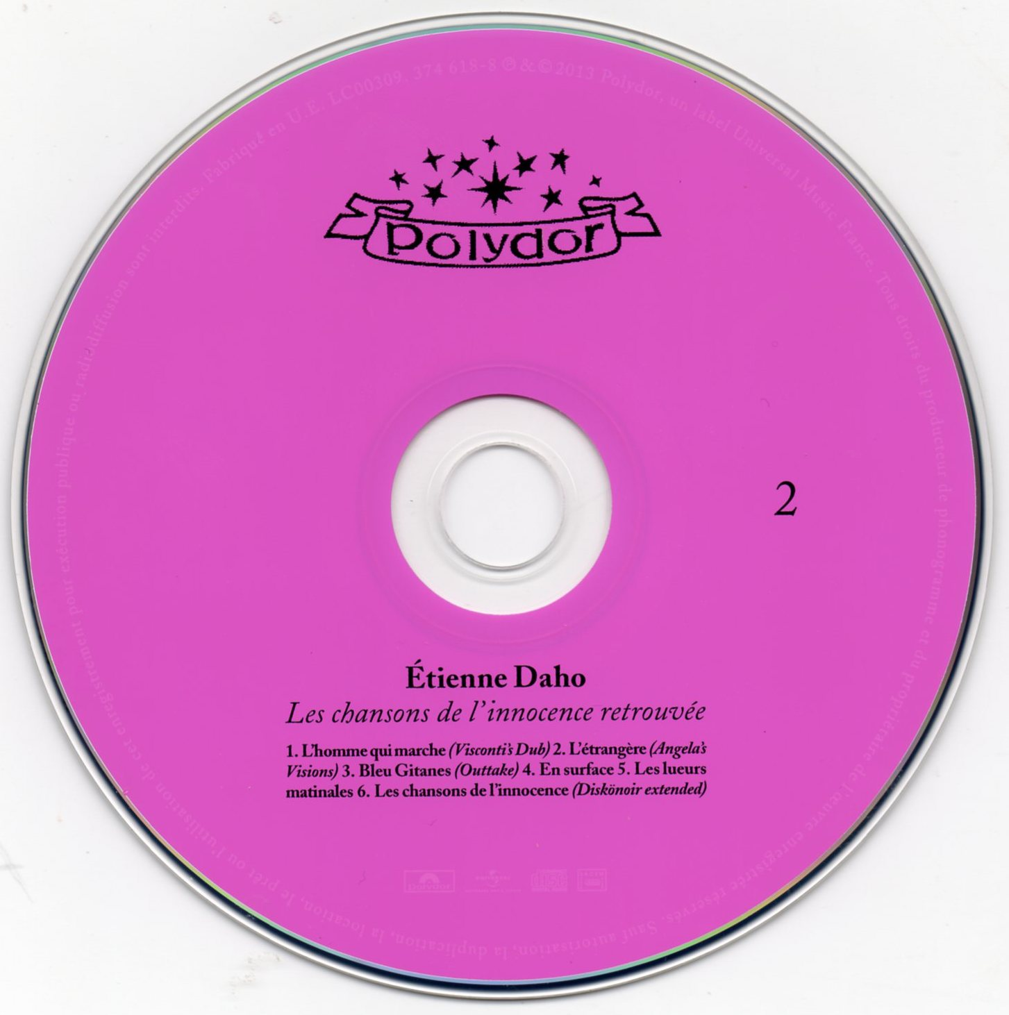 CD 2 recto , 6 titres