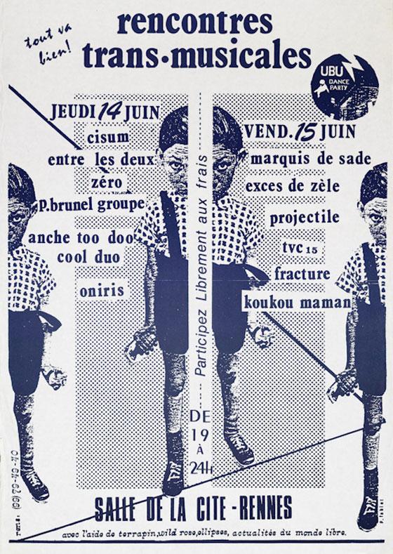 Affiche Transmusicales Rennes 1979 - Etienne Daho