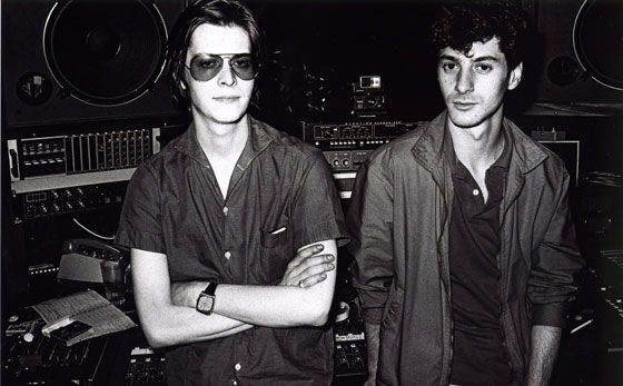 Etienne avec Jacno au studio d'Auteuil - Eté 1981 <br /> Crédit : Pierre-René Worms