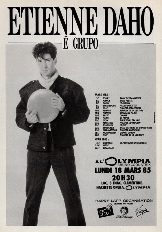 Etienne Daho - Tournée Etienne Daho E Grupo 1985