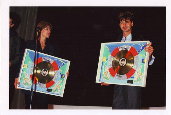 Octobre 1985 avec Françoise Hardy <br /> Crédit : Pierre René-Worms