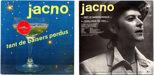 45T Jacno - Tant de baisers perdus /  J'débloque