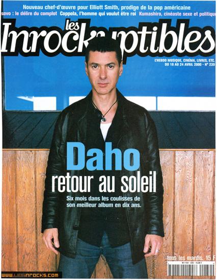 Etienne Daho - Les Inrockuptibles 18 avril 2000 n°239