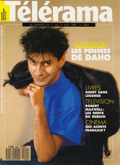 Etienne Daho - Télérama 8 juin 1988 n°2004