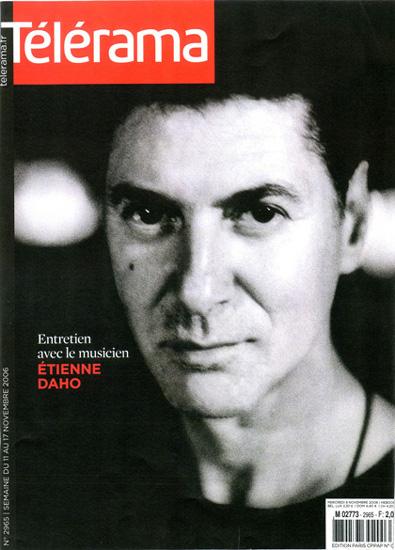 Etienne Daho - Télérama 11 novembre 2006 n°2965